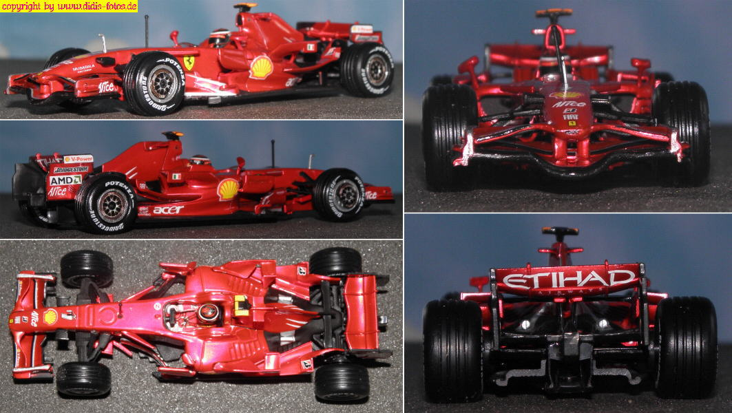 fahrzeugmodelle 1 43 metall formel 1 ferrari f2008. Black Bedroom Furniture Sets. Home Design Ideas